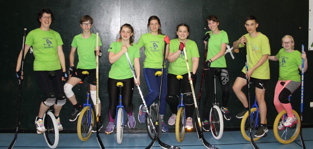 Gruppenbild Einradhockey, Zweites Heimturnier